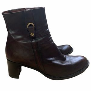 Arnold Churgin Brown Leather Ankle Bootie 8.5